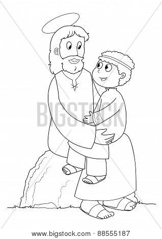 Coloring Jesus and child