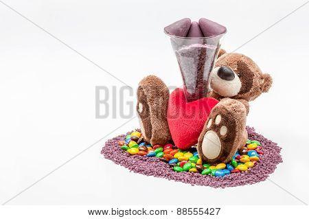 Teddy Bear Cuberdons And Milk Chocolate