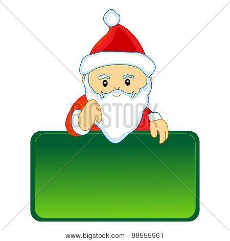 Santa With Empty Notice Board