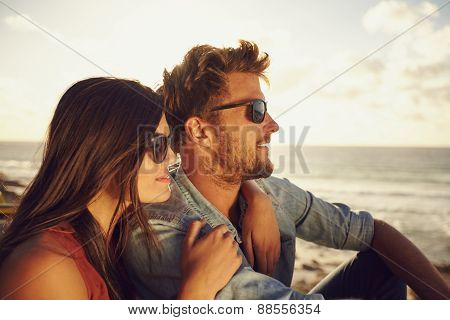 Beautiful Young Couple Enjoying The View