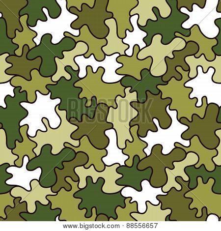 cartoon military pattern