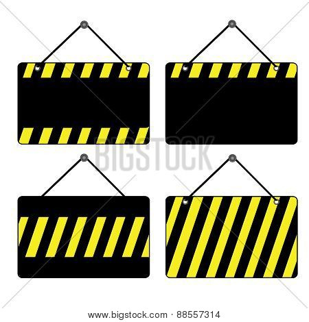 Black And Yellow Signs