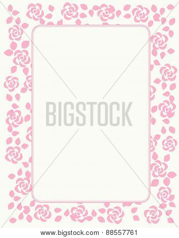 Rose Pattern Border / Frame