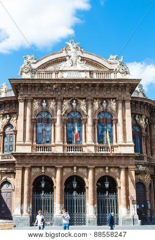Facade Of Teatro Massimo Bellini, Catania