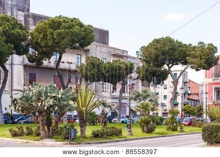 Piazza Federico Di Svevia In Catania, Sicily
