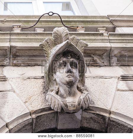 Stone Head On A Stone Arch
