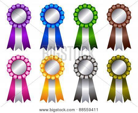 Award Ribbon Rosette Colorful