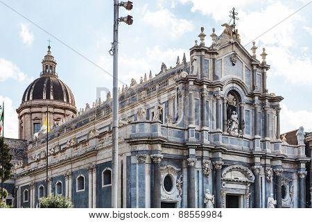 Saint Agatha Cathedral In Catania City, Sicily