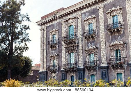 Baroque Style Building In Catania City, Sicily