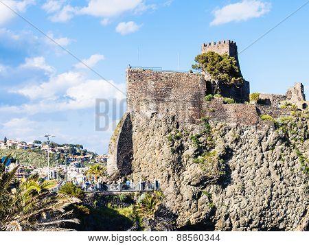 Norman Castle In Aci Castello Village, Sicily