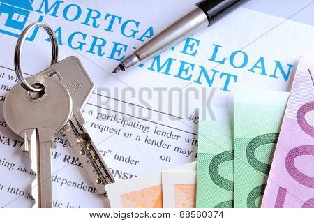 Payment And Receipt Of Keys And Mortgage Loan Agreement