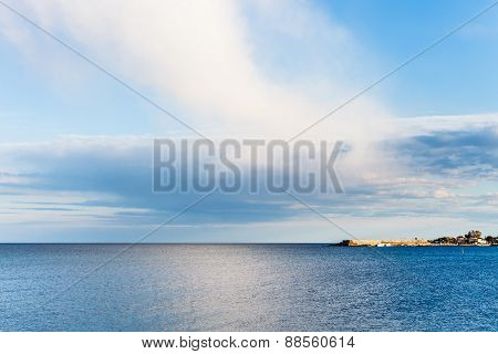 View Of Calm Ionian Sea Near Giardini Naxos Resort