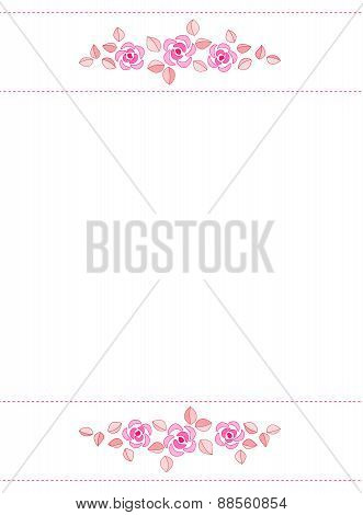 Pink Roses Invitation Background / Frame