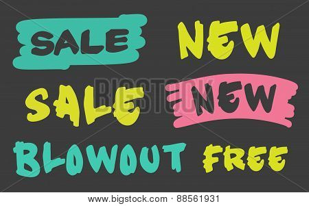 Business shopping massage for sale promotion or new products.