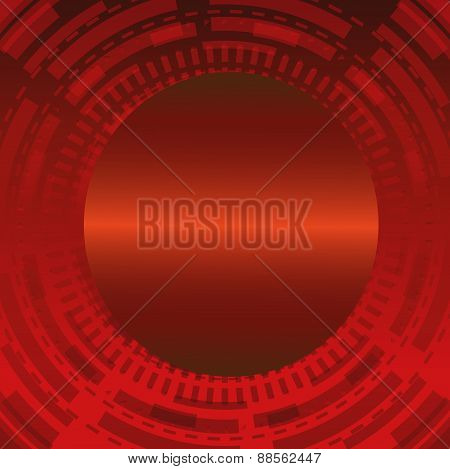 Abstract dark red technical circle background