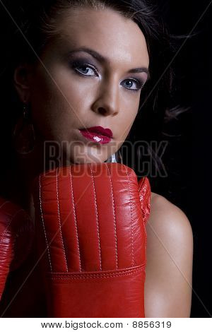 Young Women Boxer