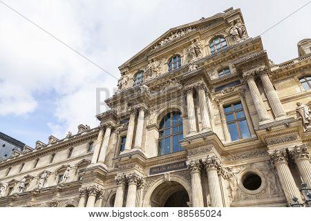 Facade Of The Louvre Museum, Pavillon Richeleu