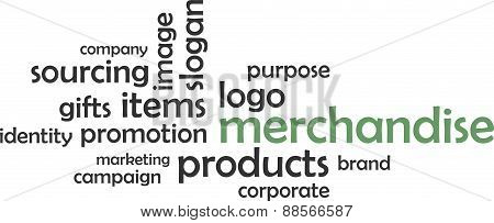 word cloud - merchandise