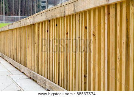 New Treated Lumber Railing