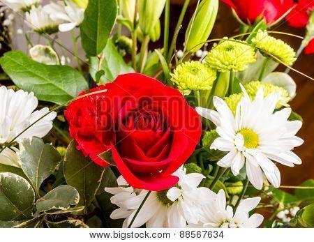 Rose In Bouquet