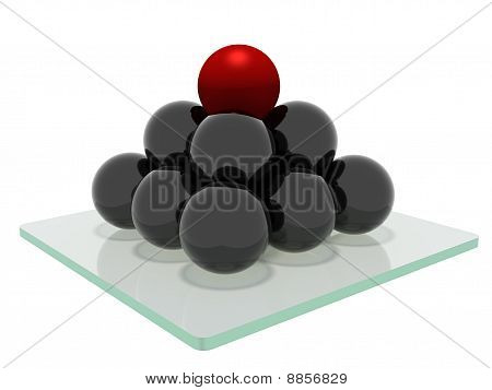 Pyramid Of Spheres