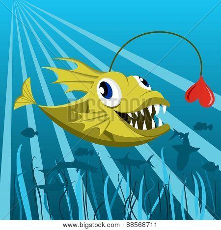 Anglerfish with heart