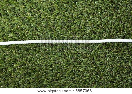 Line Of White Rope On Grass