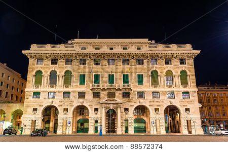 Building On Piazza Della Vittoria In Genoa - Italy