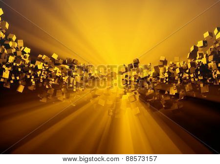 3d abstract cube background