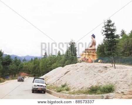 Tourists Visit The Buddha Statues