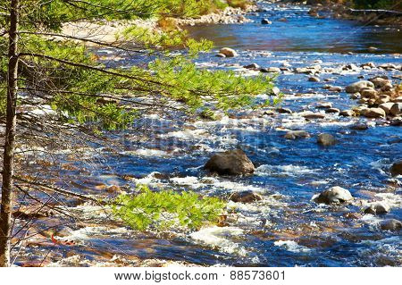 Swift River in White Mountain National Forest, New Hampshire, USA.