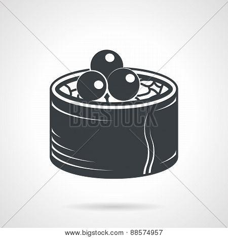 Sushi black vector icon