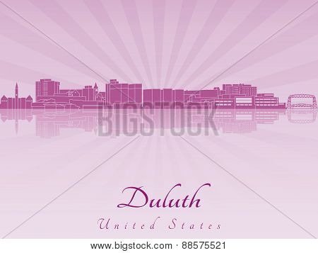 Duluth Skyline In Purple Radiant Orchid