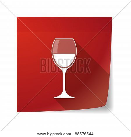 Sticky Note Icon With A Cup Of Wine