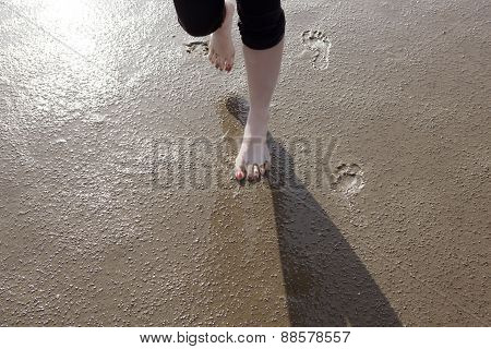 Feet On The Wadden Sea Floor