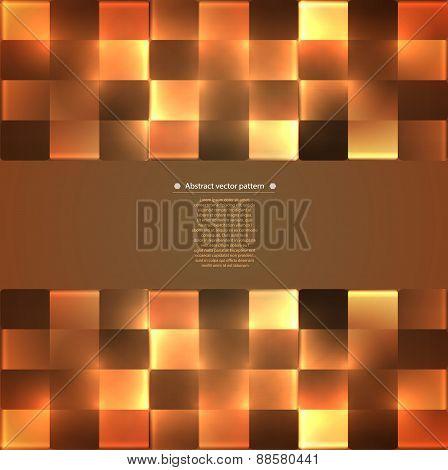 abstract geometric pattern with backlight. illumination