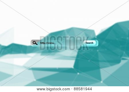 Search engine against blue abstract design