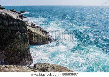 Rocks And Ocean, Beautiful Landscape