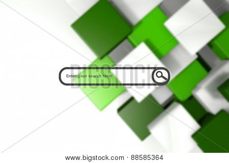 Search engine against green and white tile design