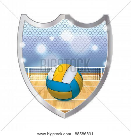 Indoor Volleyball Emblem Illustration