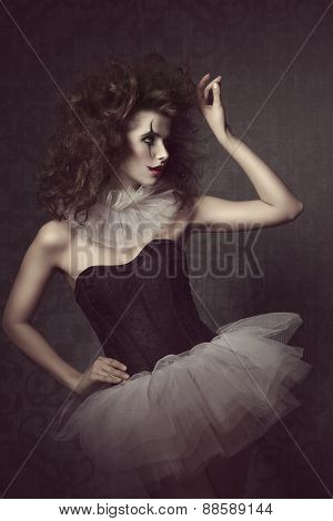 Romantic Carnival Portrait Of Girl