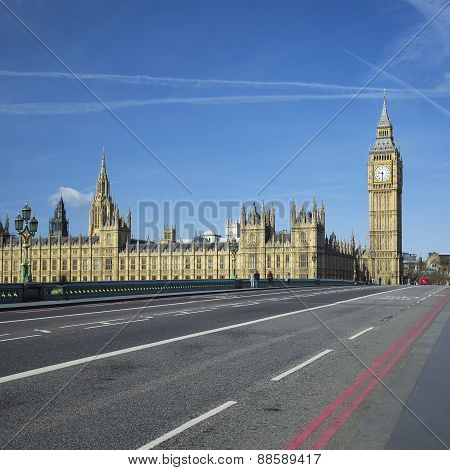 View Of Big Ben From The Bridge