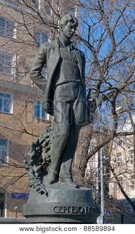Monument to Russian poet Sergei Yesenin on Tversky boulevard