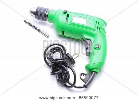 Electric hammer drill isolated on white background