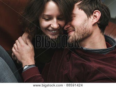 Girl Kiss Her Boyfriend From Above