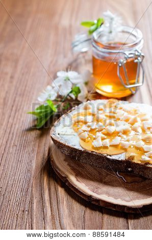 Sandwich With Honey And Butter