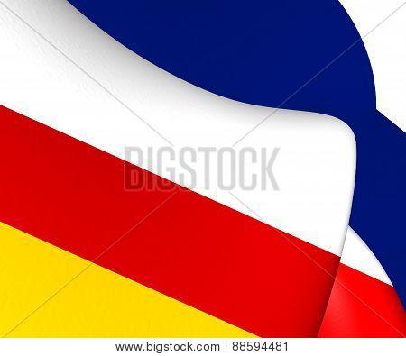 Flag Of Dokkum, Netherlands.