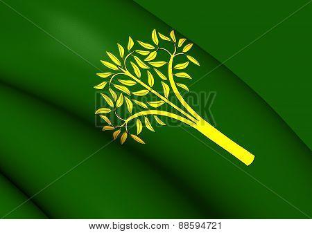 Flag Of Llorac, Spain.