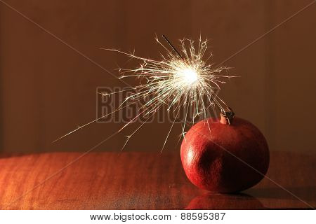 christmas bomb pomegranate