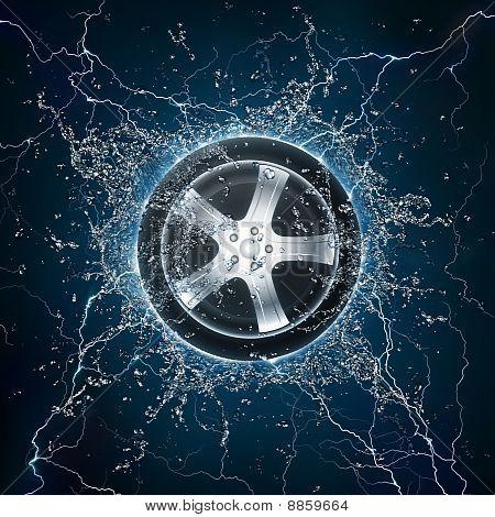 Car Wheel Water
